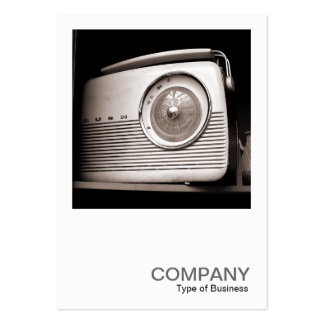 Square Photo 0118 - Old Radio Business Card Template