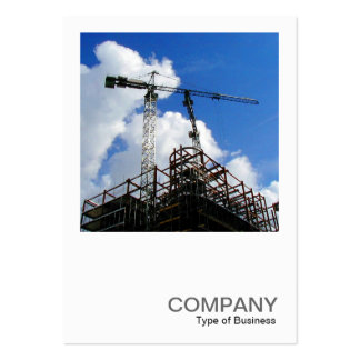 Square Photo 0179 - Tower Cranes Large Business Cards (Pack Of 100)