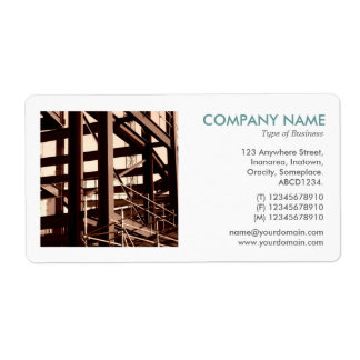 Square Photo - Steel Frame Construction Shipping Label