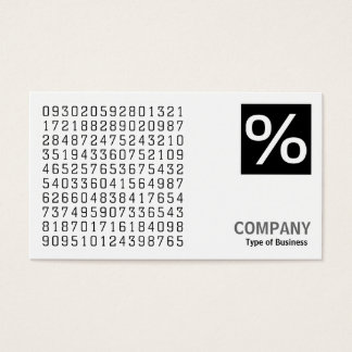Square Photo (v2) Logo Panel - Random Numbers Business Card