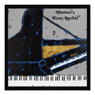 Square piano recital invitation