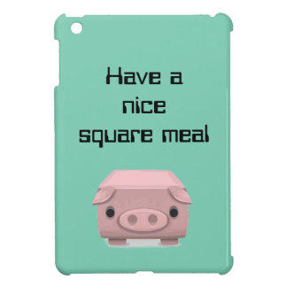 Square Pig Fun Pun Case For The iPad Mini