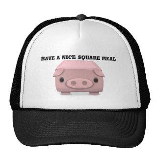 Square Pig Pun Fun Cap