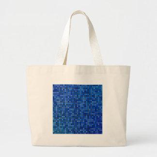 square pixel large tote bag