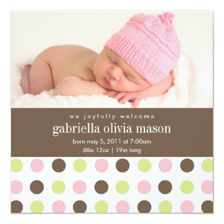 Square Polkadot | Birth Announcement