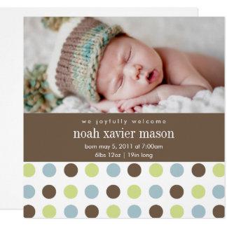 Square Polkadot | Birth Announcement
