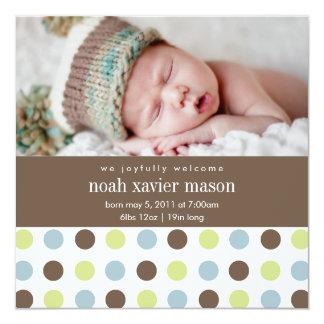 Square Polkadot   Birth Announcement
