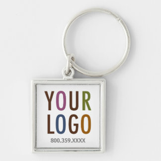 Square Promotional Keychain Custom Business Logo