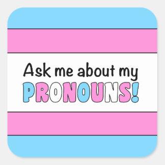 Square Pronouns Sticker (Trans Pride)