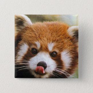Square Red Panda Button