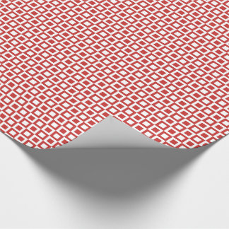 Square Red Squares Wrapping Paper