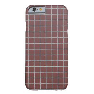 Square reddish tiles barely there iPhone 6 case