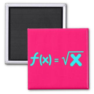 Square Root Function - Math Symbols Square Magnet