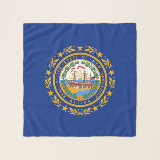 Square Scarf with flag of New Hampshire State, USA