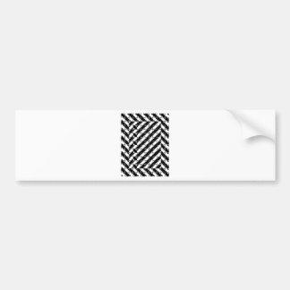 Square Shape Optical Illusion Bumper Sticker