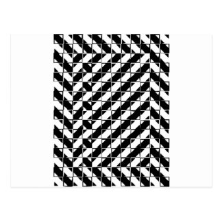 Square Shape Optical Illusion Postcard