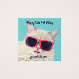 Square Shaped Pet Sitting Sitter Biz Cards