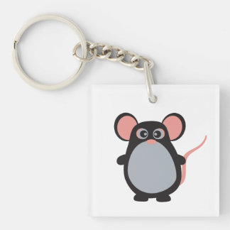 *Square (single-sided) Keychain