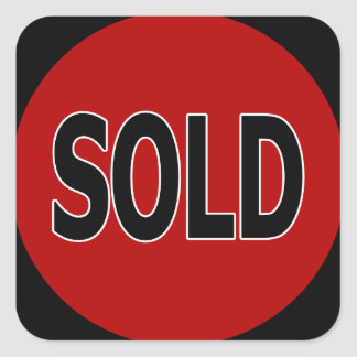 Square Sold Stickers