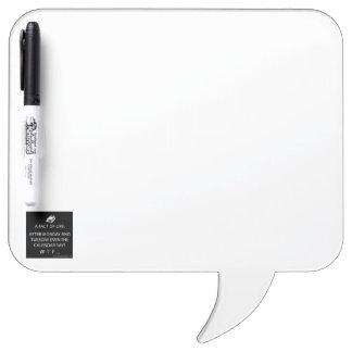 Square Speech Bubble w/ Pen Dry Erase Board