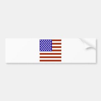 Square Stars and Stripes Bumper Sticker
