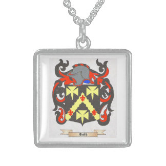 Square Sterling Silver Necklace Smith Family Crest