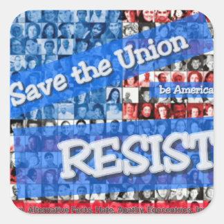 Square sticker anti-Trump