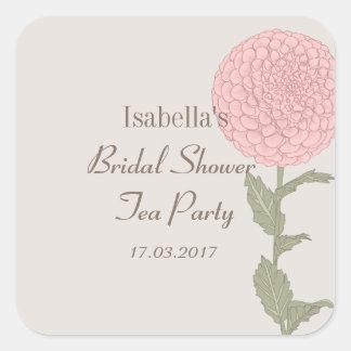 Square sticker Bridal Shower Tea Party