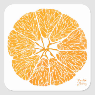 Square Sticker - Orange you glad . . .