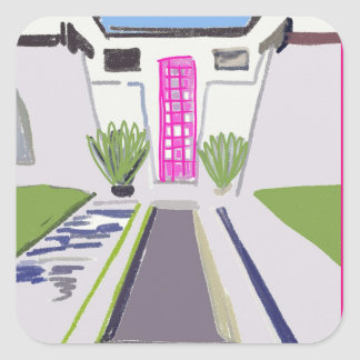 SQUARE STICKER THAT PINK DOOR PALM SPRINGS VIBES