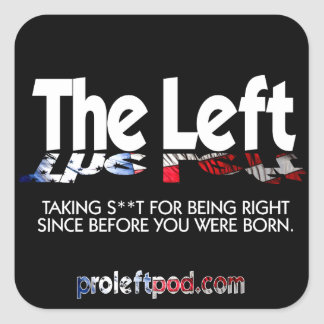 Square Stickers - The Left, Defined...