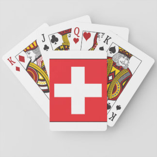 Square Swiss Flag Playing Cards
