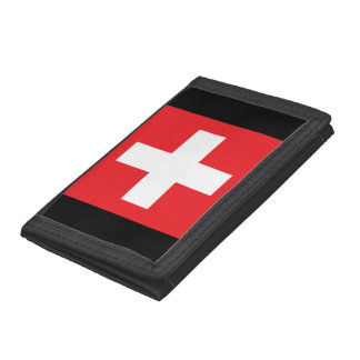 Square Swiss Flag Wallet