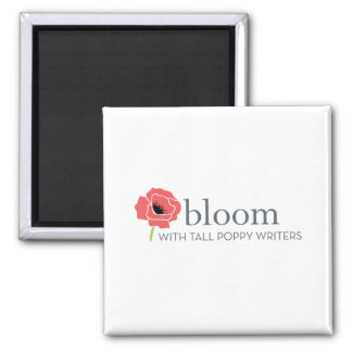 Square Tall Poppy Writer Magnet