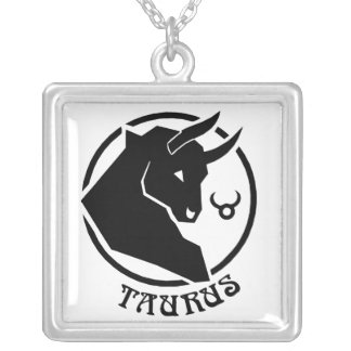 Square Taurus Zodiac Sign Pendants