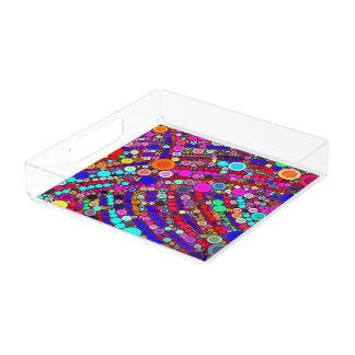 Square Tray Colorful Circles