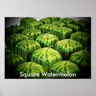 Square Watermelon Print