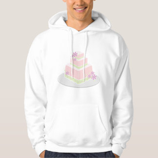 Square Wedding Cake Mens Hoodie