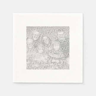 Square White Bordered Photo Disposable Napkin