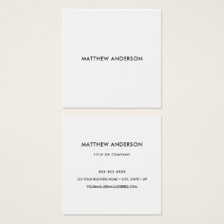 Square, white business cards