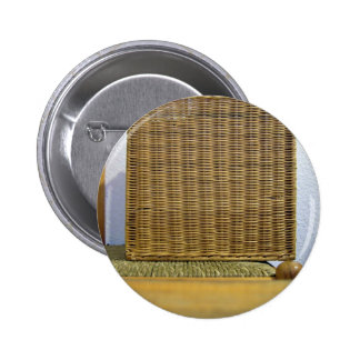 Square wicker plate buttons