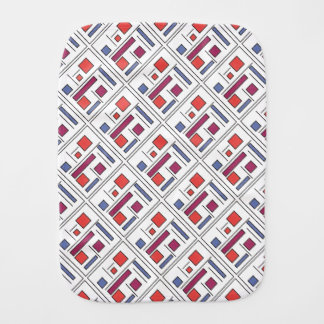 Square With Geometric Shapes - Abstract Art Burp Cloth