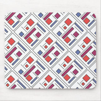 Square With Geometric Shapes - Modern Art Mousepads