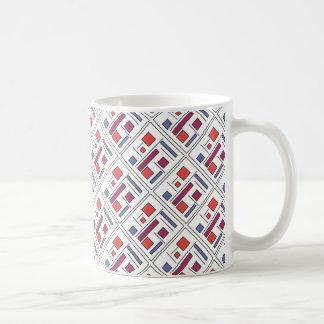 Square With Geometric Shapes - Modern Art Mugs
