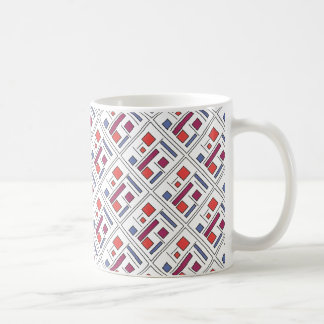 Square With Geometric Shapes - Modern Art Mugs