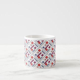 Square With Geometric Shapes - Modern Art Espresso Mug
