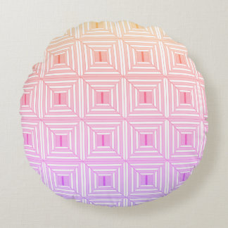 Square with pastels. round cushion
