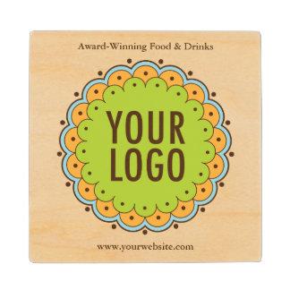 Square Wood Coaster with Company Logo No Minimum