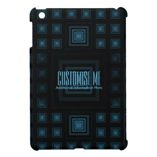 Squareception (Square Pattern) Blue iPad Mini Cover