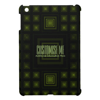 Squareception (Square Pattern) Green iPad Mini Covers